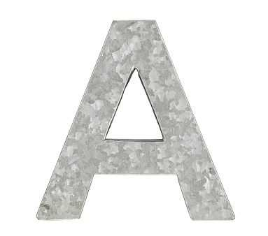 Galvanized Wall Letter, A - Pottery Barn Kids