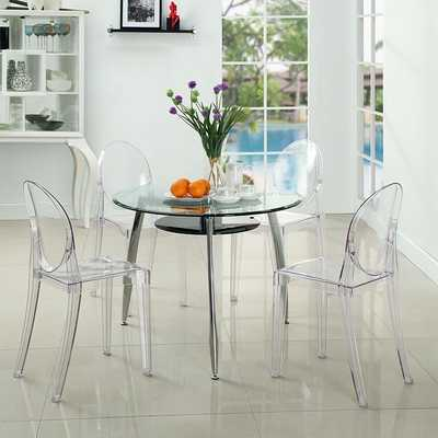 CASPER DINING CHAIRS - SET OF 4 - CLEAR - LexMod