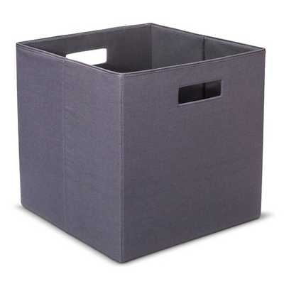 "Fabric Cube Storage Bin 13"" - Threshold-gray - Target"