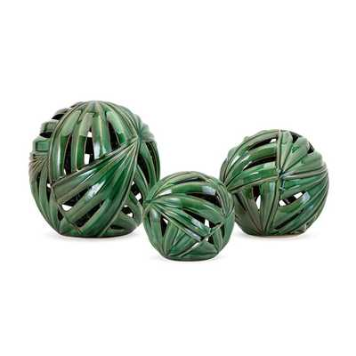Palmetto Wall or Deco Balls (Set of 3) - Mercer Collection
