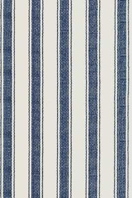 BLUE AWNING STRIPE INDOOR/OUTDOOR RUG -  5'x8' - Dash and Albert