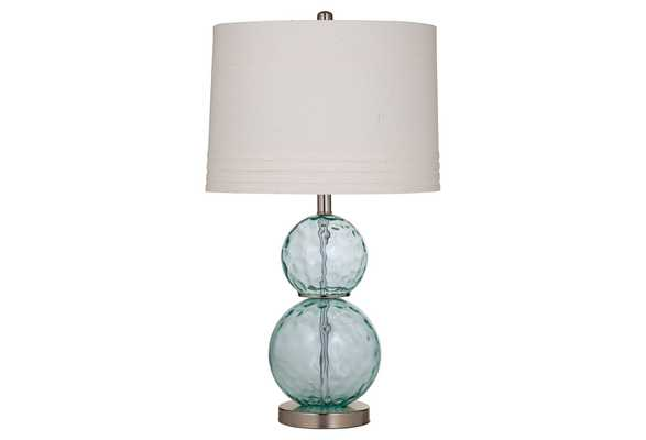 Glass Table Lamp, elegant, Sea Blue - One Kings Lane