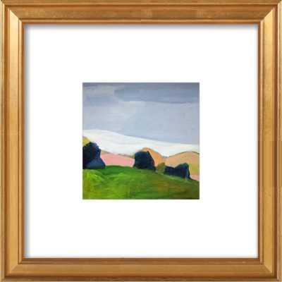 Modern Landscape 8x8 - Gold Leaf Frame - Artfully Walls