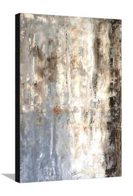 BROWN AND GREY ABSTRACT ART PAINTING -CANVAS - art.com