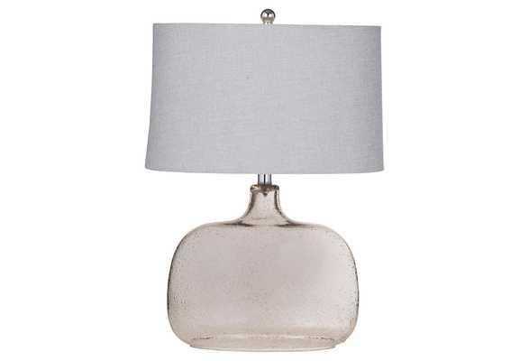 Glass Table Lamp, Bronze - One Kings Lane