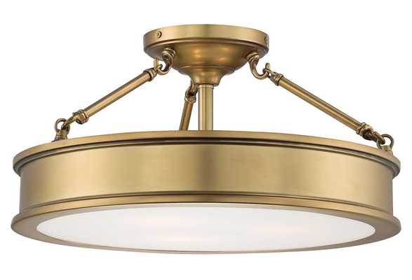 Daria 3-Light Semi-Flush Mount, modern, Gold - One Kings Lane