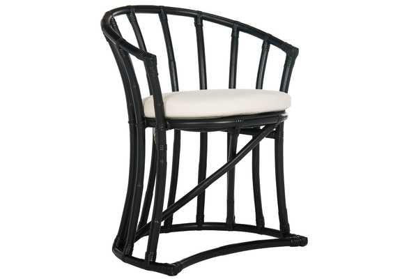 Oskar Rattan Accent Chair, chic, Black - One Kings Lane