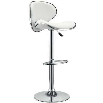 SADDLEBACK BAR STOOL IN WHITE - Modway Furniture