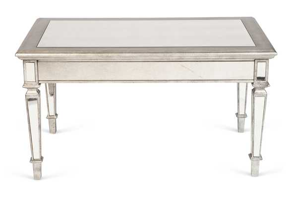 "Maddy 36"" Coffee Table, Handcrafted, Mirrored/Silver - One Kings Lane"