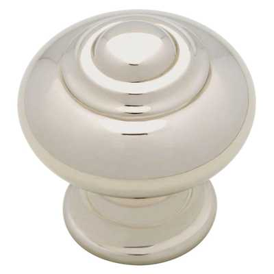 1-1/4 in. Polished Nickel Finial Cabinet Knob - Home Depot