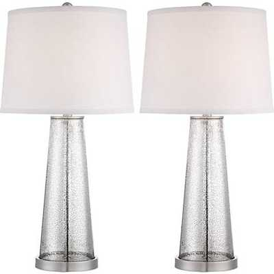 Andrea Mercury Glass Table Lamp Set of 2 - Lamps Plus