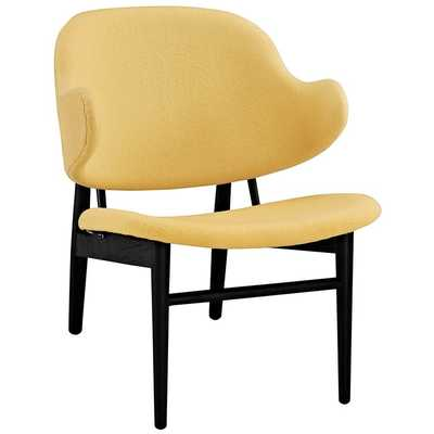 SUFFUSE LOUNGE CHAIR IN BLACK YELLOW - Modway Furniture