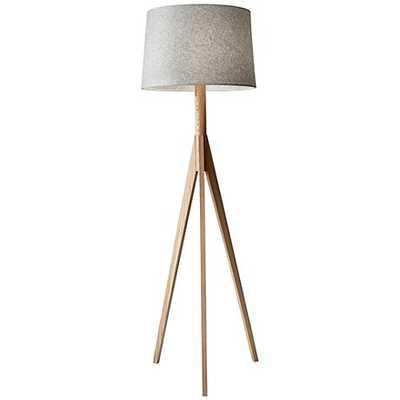 Eden Natural Ash Wood Tripod Floor Lamp black and white - Lamps Plus
