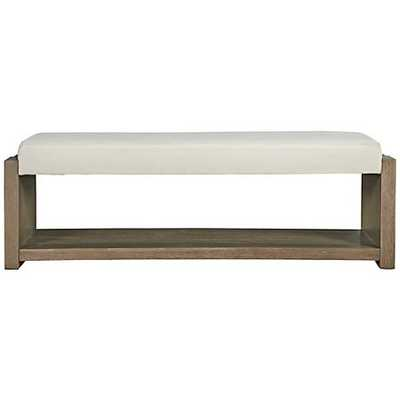 Synchronicity Horizon Rectangular Bed End Bench white - Lamps Plus