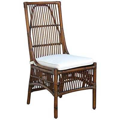 Panama Jack Bora Bora Cushioned Rattan Side Chair - Lamps Plus