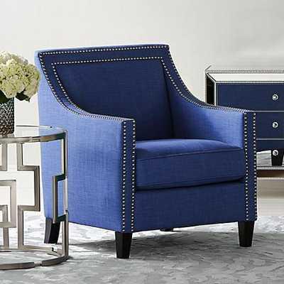 Flynn Blue Upholstered Armchair navy - Lamps Plus