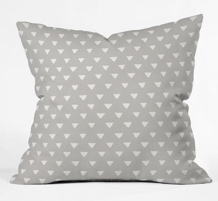 "geometric confetti grey  Throw Pillow - insert included 16""x16"" - Wander Print Co."