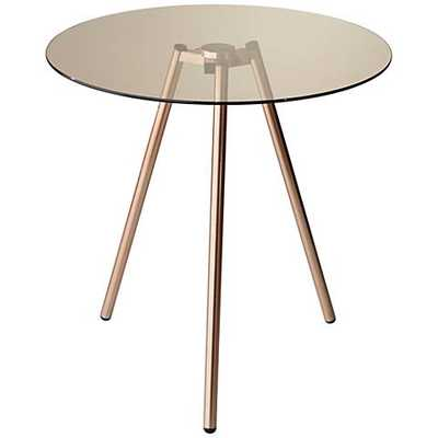 Gibson Tinted Glass Tripod Accent Table - Lamps Plus