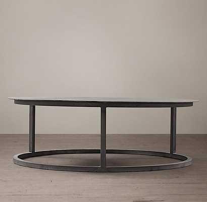"Mercer Round Coffee Table - ZINC - 49"" - RH"