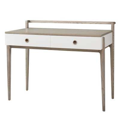 Wrightwood Stain and White Desk grey - Land of Nod