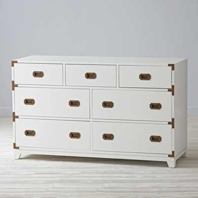 Campaign Wide Dresser ( white - Land of Nod