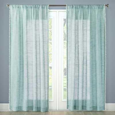 Pom Stripe Window Sheer - Threshold™ - Target