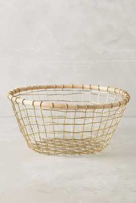 Brushed Wire Fruit Bowl; Berry Basket - Anthropologie