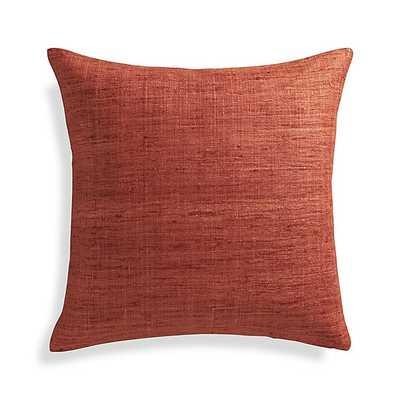 "Trevino Terra Cotta Orange 20"" Pillow - Crate and Barrel"