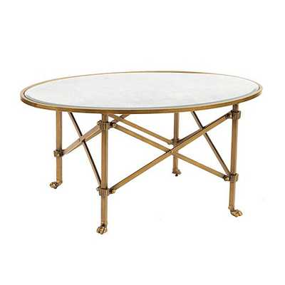 Olivia Cocktail Table -Vintage Brass - Ballard Designs