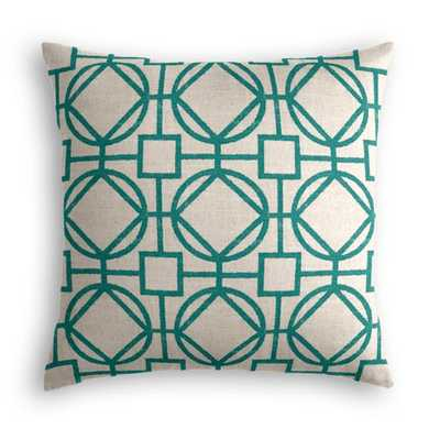 Gated Entry - Teal Pillow - Loom Decor
