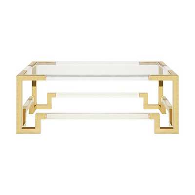 Newman BR Coffee Table - Gold - Worlds Away