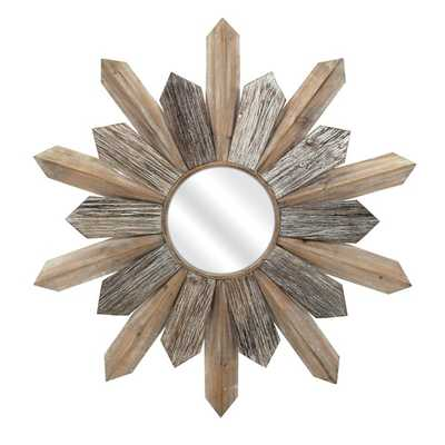 Tumelo Wood Mirror - Mercer Collection