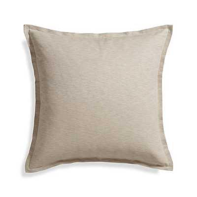 "Linden Natural 23"" Pillow Cover - Crate and Barrel"