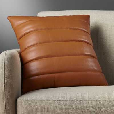 """""""18"""""""" izzy saddle leather  pillow with down-alternative insert"""" - CB2"""