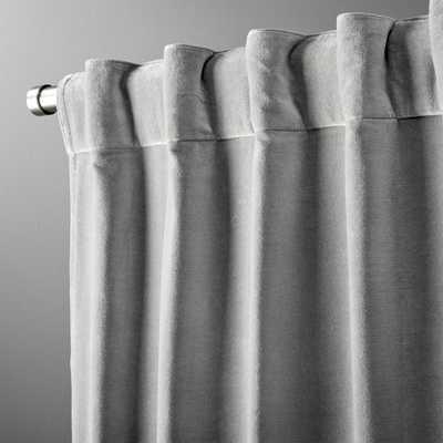 """""""velvet graphite curtain panel 48""""""""x108"""""""""""" - CB2"""
