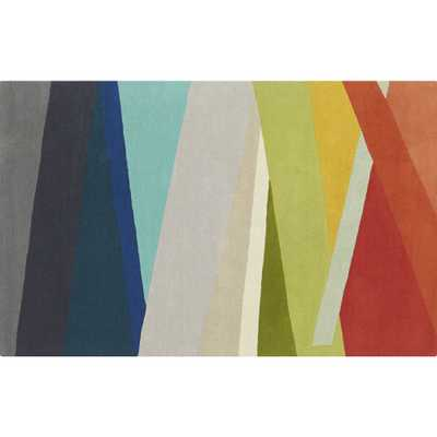 banded multicolor stripe rug 5'x8' - CB2