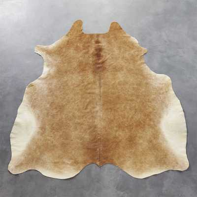 cowhide brown rug 5'x8' - CB2