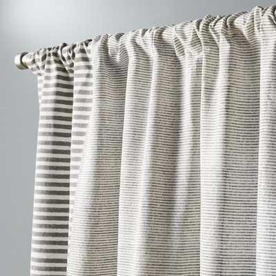"Block printed stripe curtain panel 48""x96"" - CB2"