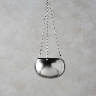 raj silver hanging planter - CB2