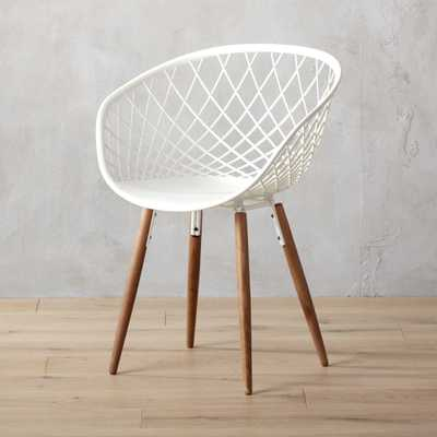 sidera white chair - CB2