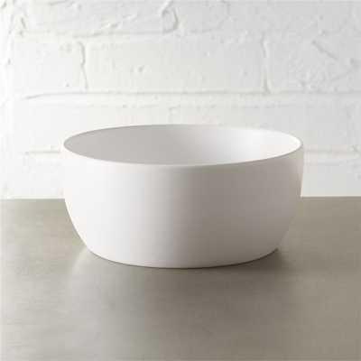 crisp matte white soup bowl - CB2
