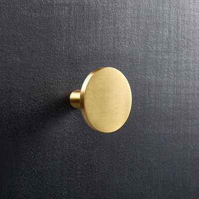 circle brass knob - CB2