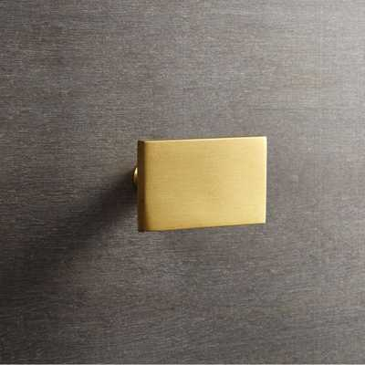 rectangle brass knob - CB2