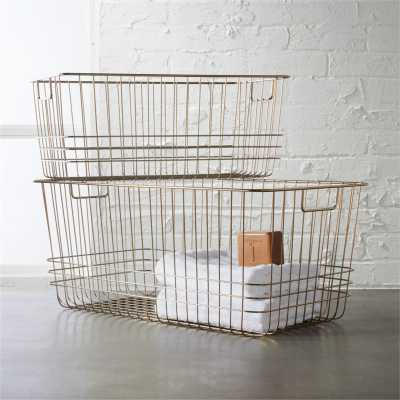 bridgeport small metal basket - CB2