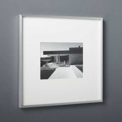 gallery brushed silver 8x10 picture frame - CB2