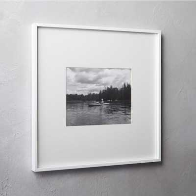 gallery white 8x10 picture frame - CB2