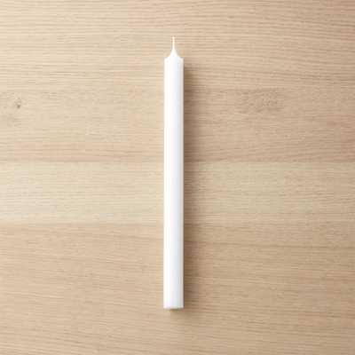 white taper candle - CB2
