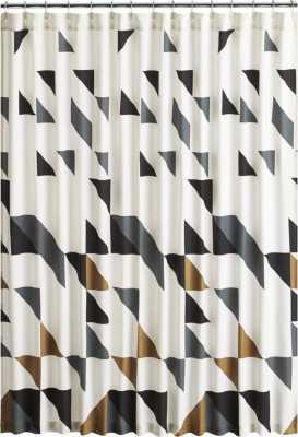 triangle shower curtain - CB2