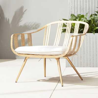 gala gold lounge chair - CB2