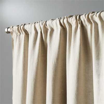"""natural linen curtain panel 48""""x108"""""" - CB2"